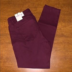 Juicy Couture Burgundy Skinny Jeans